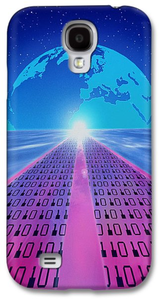 Information Photographs Galaxy S4 Cases - Information Superhighway Galaxy S4 Case by Mehau Kulyk