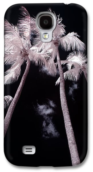 Nature Study Digital Art Galaxy S4 Cases - Infrared Palm Trees Galaxy S4 Case by Adam Romanowicz
