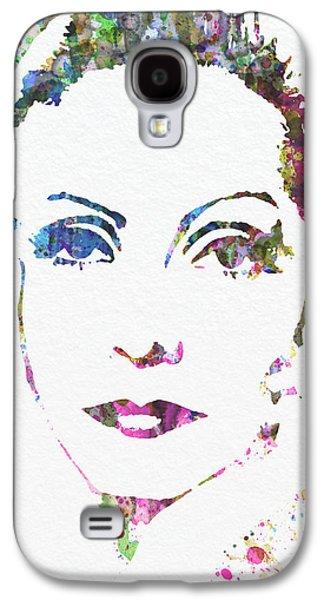 Golden Digital Galaxy S4 Cases - Ingrid Bergman  Galaxy S4 Case by Naxart Studio