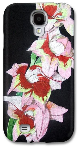 Gladiolas Paintings Galaxy S4 Cases - Inner Beauty Galaxy S4 Case by Anita Putman