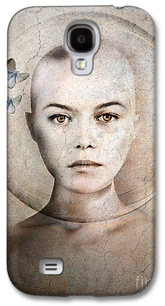 Face Mixed Media Galaxy S4 Cases - Inner World Galaxy S4 Case by Photodream Art