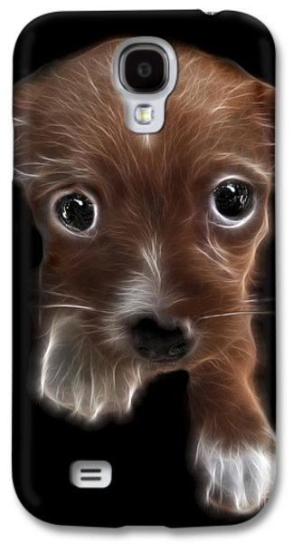 Puppy Digital Art Galaxy S4 Cases - Innocent Loving Eyes	 Galaxy S4 Case by Peter Piatt