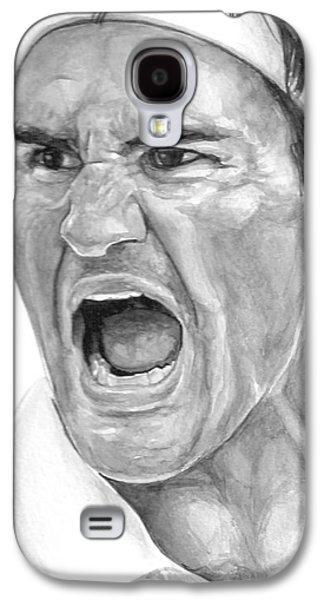 Grand Slams Galaxy S4 Cases - Intensity Federer Galaxy S4 Case by Tamir Barkan