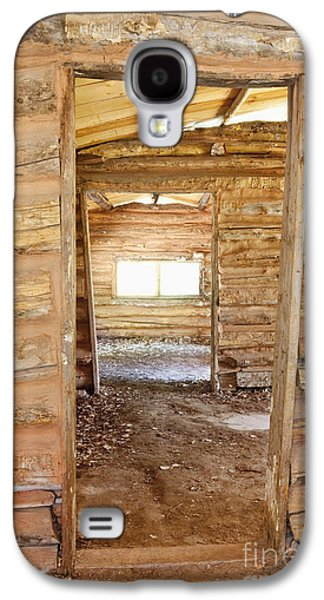Log Cabin Interiors Galaxy S4 Cases - Interior of a Pioneer Cabin Galaxy S4 Case by Bryan Mullennix