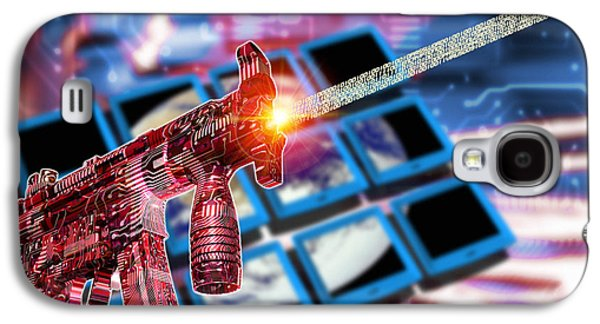 Terrorism Galaxy S4 Cases - Internet Terrorism Galaxy S4 Case by Victor Habbick Visions