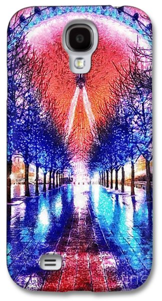 Winter Light Paintings Galaxy S4 Cases - Into the Eye Galaxy S4 Case by Mo T