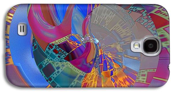 Abstract Digital Digital Art Galaxy S4 Cases - Into The Inner World Galaxy S4 Case by Deborah Benoit
