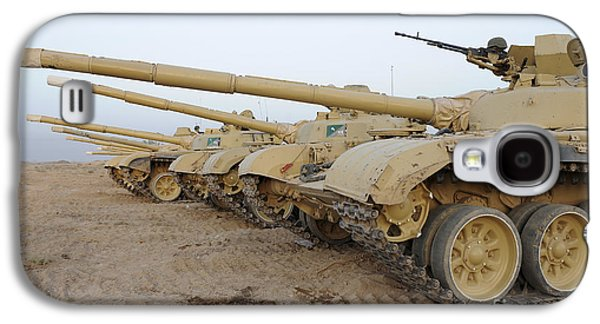 Brigade Galaxy S4 Cases - Iraqi T-72 Tanks From Iraqi Army Galaxy S4 Case by Stocktrek Images