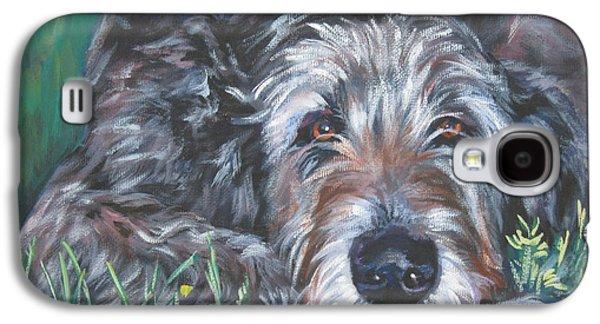 Irish Galaxy S4 Cases - Irish wolfhound Galaxy S4 Case by Lee Ann Shepard