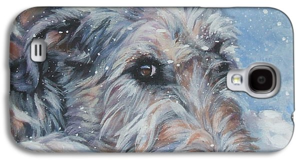 Irish Galaxy S4 Cases - Irish Wolfhound resting Galaxy S4 Case by Lee Ann Shepard