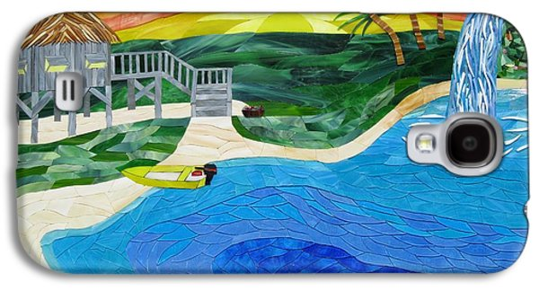 Transportation Glass Art Galaxy S4 Cases - Island In The Sun Galaxy S4 Case by Charles McDonell