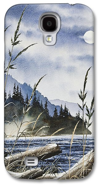Landscape Greeting Cards Galaxy S4 Cases - Island Moon Galaxy S4 Case by James Williamson