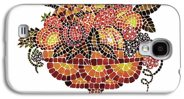 Mosaic Galaxy S4 Cases - Italian Mosaic Vase With Fruits Galaxy S4 Case by Irina Sztukowski