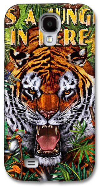 Growling Galaxy S4 Cases - Its a Jungle  Galaxy S4 Case by JQ Licensing