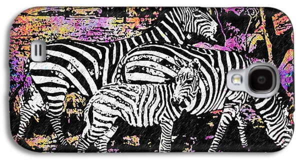 Zebra Digital Art Galaxy S4 Cases - Its Not All Black and White Galaxy S4 Case by Bill Cannon
