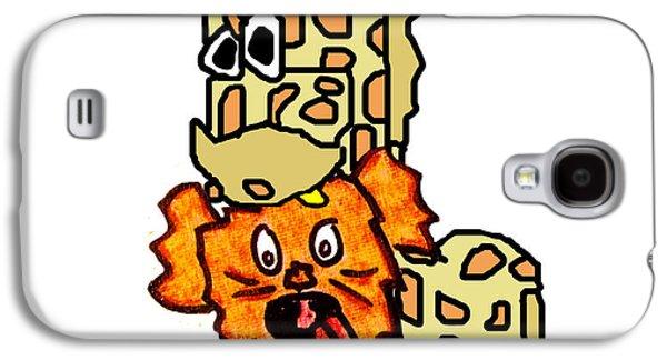 Puppy Digital Art Galaxy S4 Cases - Izzy as Giraffe Galaxy S4 Case by Jera Sky