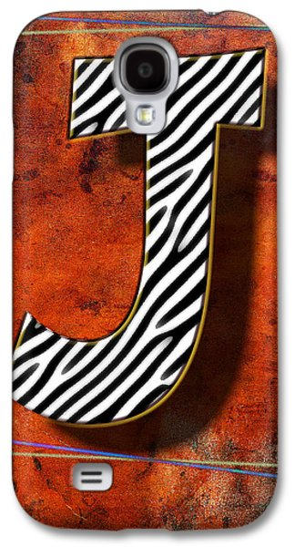 Music Pyrography Galaxy S4 Cases - J Galaxy S4 Case by Mauro Celotti