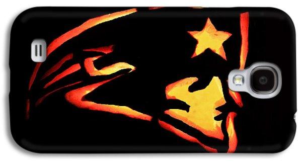 Jacko Galaxy S4 Cases - Jacko Lantern Patriots Galaxy S4 Case by Lloyd Alexander