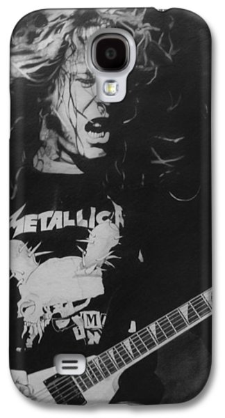 Music Drawings Galaxy S4 Cases - James Hetfield Pencil 1987 Galaxy S4 Case by Brian Carlton