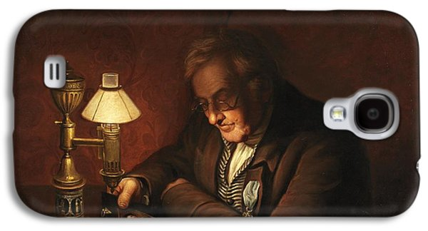 Night Lamp Paintings Galaxy S4 Cases - James Peale Galaxy S4 Case by Charles Willson Peale