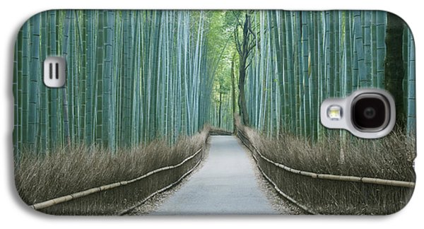 Bamboo Fence Galaxy S4 Cases - Japan Kyoto Arashiyama Sagano Bamboo Galaxy S4 Case by Rob Tilley