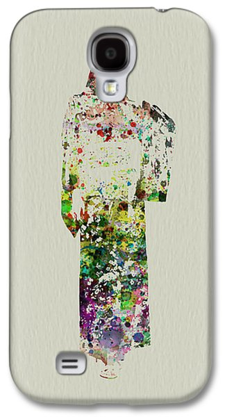 Singing Paintings Galaxy S4 Cases - Japanese Woman dancing Galaxy S4 Case by Naxart Studio