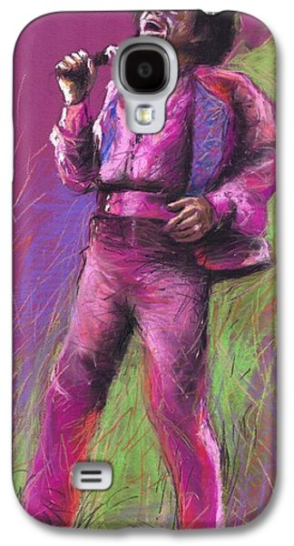 Celebrities Pastels Galaxy S4 Cases - Jazz James Brown Galaxy S4 Case by Yuriy  Shevchuk