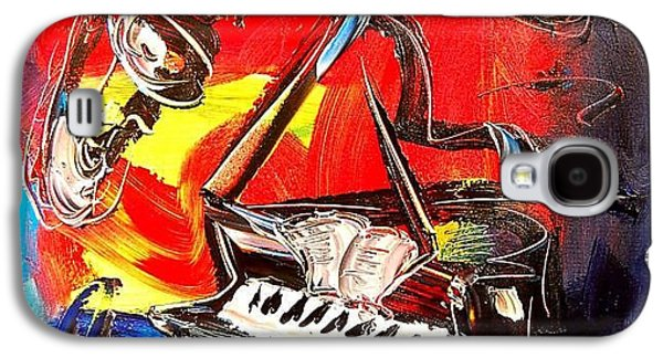 Recently Sold -  - Bison Digital Art Galaxy S4 Cases - Jazz Piano Galaxy S4 Case by Mark Kazav
