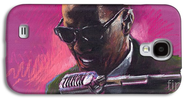 Drawings Galaxy S4 Cases - Jazz. Ray Charles.1. Galaxy S4 Case by Yuriy  Shevchuk