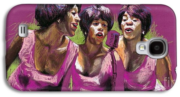 Celebrities Pastels Galaxy S4 Cases - Jazz Trio Galaxy S4 Case by Yuriy  Shevchuk