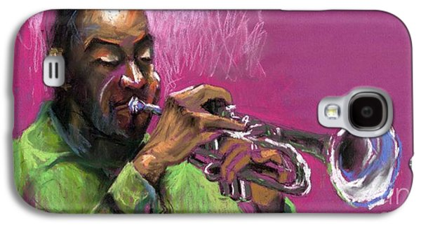 Celebrities Pastels Galaxy S4 Cases - Jazz Trumpeter Galaxy S4 Case by Yuriy  Shevchuk
