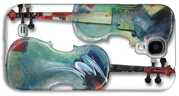 Classical Music Galaxy S4 Cases - Jazz Violin - poster Galaxy S4 Case by Tim Nyberg