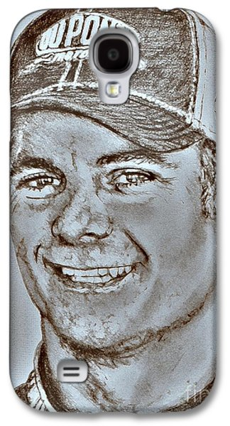 Owner Mixed Media Galaxy S4 Cases - Jeff Gordon in 2010 Galaxy S4 Case by J McCombie