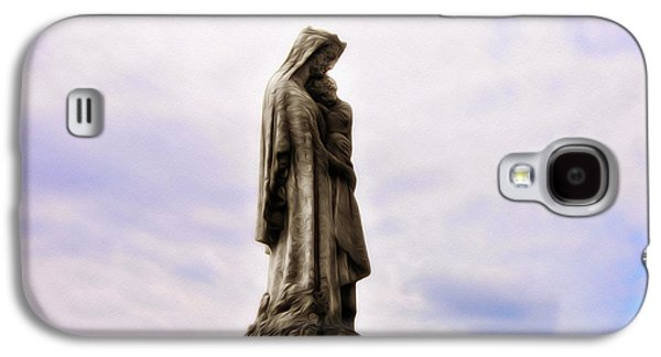 Mother Mary Digital Art Galaxy S4 Cases - Jesus and Mary Galaxy S4 Case by Bill Cannon