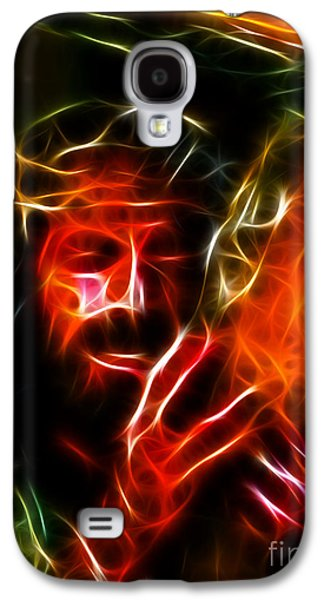 The Church Mixed Media Galaxy S4 Cases - Jesus Carrying The Cross No2 Galaxy S4 Case by Pamela Johnson