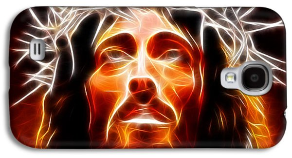 The Church Mixed Media Galaxy S4 Cases - Jesus Christ Our Savior Galaxy S4 Case by Pamela Johnson