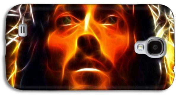 Face Mixed Media Galaxy S4 Cases - Jesus Christ The Savior Galaxy S4 Case by Pamela Johnson