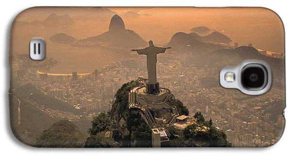 Tower Photographs Galaxy S4 Cases - Jesus in Rio Galaxy S4 Case by Christian Heeb