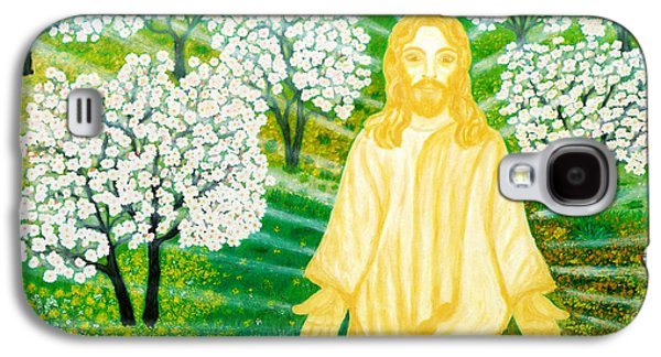 Sun Rays Paintings Galaxy S4 Cases - Jesus on Mount Thabor Galaxy S4 Case by Augusta Stylianou
