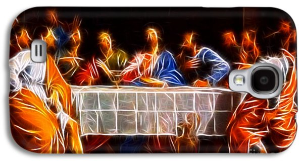 The Church Mixed Media Galaxy S4 Cases - Jesus The Last Supper Galaxy S4 Case by Pamela Johnson