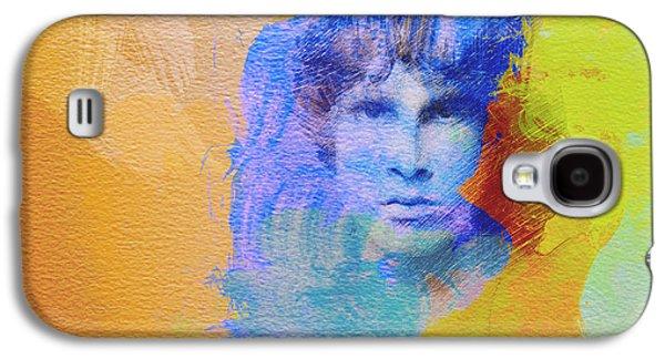 Stone Digital Art Galaxy S4 Cases - Jim Morisson Galaxy S4 Case by Naxart Studio