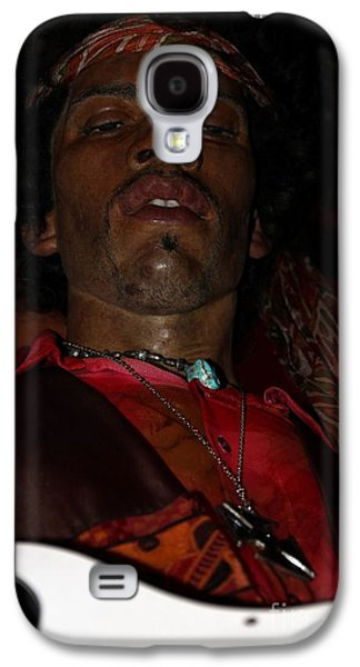 Statue Portrait Galaxy S4 Cases - Jimi Hendrix Galaxy S4 Case by Sophie Vigneault