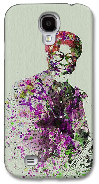 Playing Paintings Galaxy S4 Cases - Joe Henderson Watercolor  Galaxy S4 Case by Naxart Studio