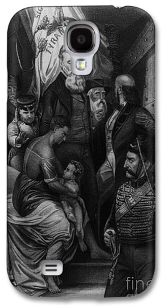 Anti-slavery Galaxy S4 Cases - John Brown Meeting Slave Mother Galaxy S4 Case by Photo Researchers