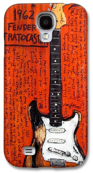 Pepper Paintings Galaxy S4 Cases - John Frusciante 1962 Stratocaster Galaxy S4 Case by Karl Haglund