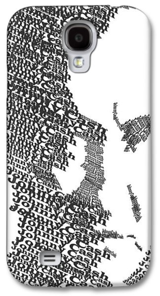 Blue Abstracts Galaxy S4 Cases - Johnny Cash Typography Galaxy S4 Case by Jimi Bush