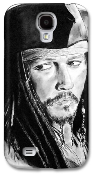 Johnny Depp As Captain Jack Sparrow In Pirates Of The Caribbean Galaxy S4 Case by Jim Fitzpatrick