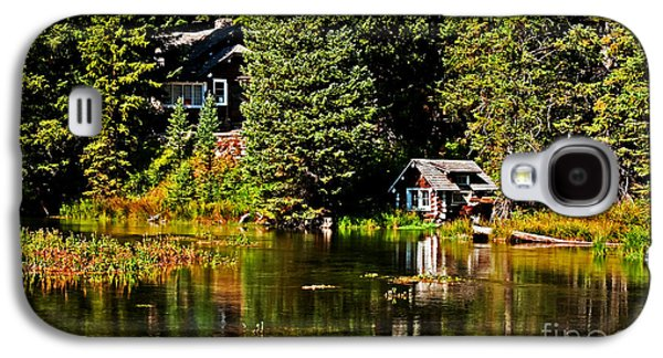 River Flooding Galaxy S4 Cases - Johnny Sack Cabin II Galaxy S4 Case by Robert Bales