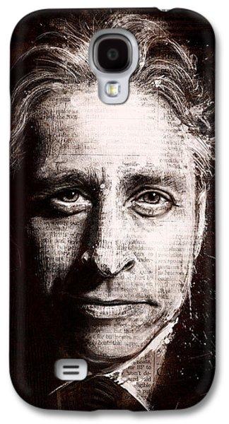 Political Galaxy S4 Cases - Jon Stewart Galaxy S4 Case by Fay Helfer