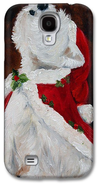 Pet Portrait Galaxy S4 Cases - Joy to the World Galaxy S4 Case by Mary Sparrow